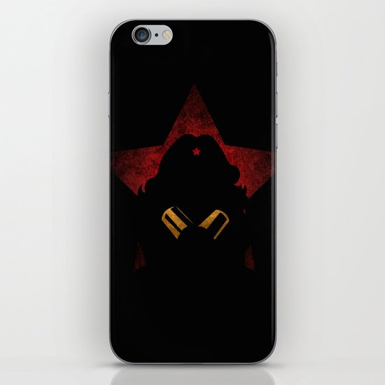 SuperHeroes Shadows : WonderWoman iPhone & iPod Skin