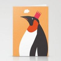 Emperor Penguins Stationery Cards