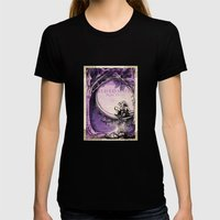 Midsummer Night's Dream Womens Fitted Tee Black SMALL