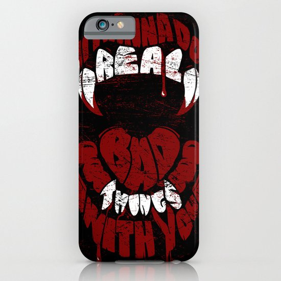 Real Bad Things iPhone & iPod Case