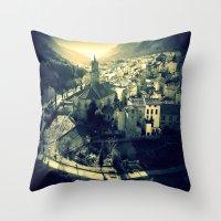 Panorama Of Arnedillo Throw Pillow