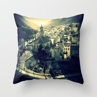 Panorama Of Arnedillo Throw Pillow