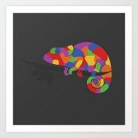 World's Worst Chameleon Art Print
