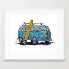 VW Bus Framed Art Print