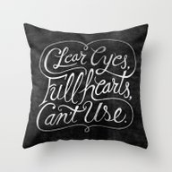 Throw Pillow featuring Clear Eyes, Full Hearts,… by Chris Piascik