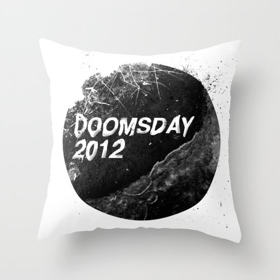 Doomsday 2012 Throw Pillow