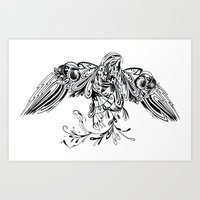 Patterned Peregrine Art Print