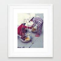 Fruit Sellers, Hoi An.  Framed Art Print