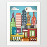 Touristique - New York Art Print