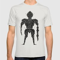 The Zendorian  Mens Fitted Tee Silver SMALL