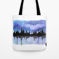 London Skyline 2 Blue Tote Bag