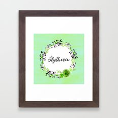 HP Slytherin in Watercolor Framed Art Print