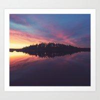 Symmetrical Reflection Art Print