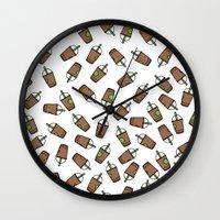 Bev Fresh Pattern Wall Clock
