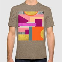 Abstractions No. 1 Mens Fitted Tee Tri-Coffee SMALL