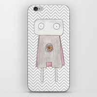 Robot superhero iPhone & iPod Skin