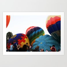 Hot-Air Balloon Art Print