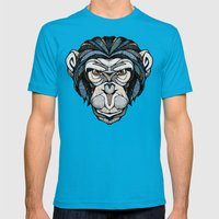 Chimpanzee Mens Fitted Tee Teal SMALL