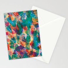 Floral Texture Stationery Cards