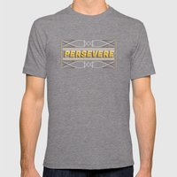 Persevere Mens Fitted Tee Tri-Grey SMALL