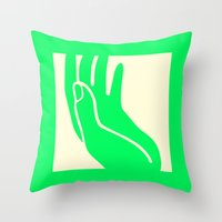 Holy Hand Throw Pillow