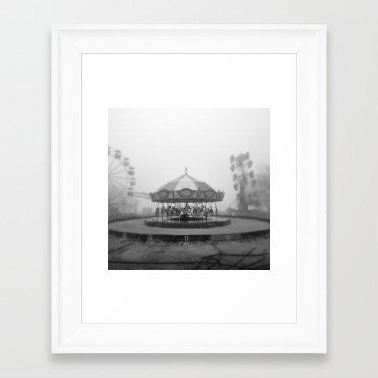 Silent Beach Park Framed Art Print