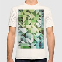 :: Geometric Maze II :: Mens Fitted Tee Natural SMALL