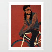 Bicycles & Tattoos (2) Art Print