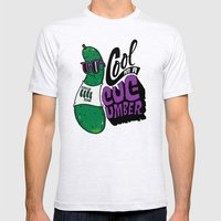 Cool As A Cucumber Mens Fitted Tee Ash Grey SMALL