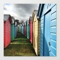 Beach Huts 01A Canvas Print
