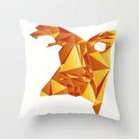 Polyface Color Throw Pillow