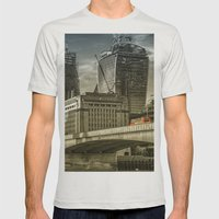 London North Bank Mens Fitted Tee Silver SMALL