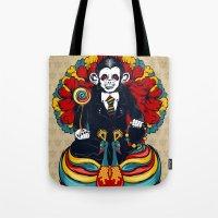 Buddha Monkey Tote Bag