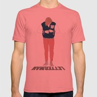 Letterman Mens Fitted Tee Pomegranate SMALL