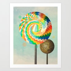 This is no lollipop Art Print