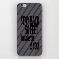 Stay Back iPhone & iPod Skin