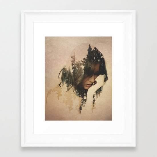Lost In Thought Framed Art Print