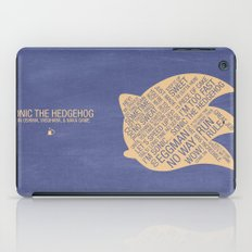 Sonic the Hedgehog Typography iPad Case