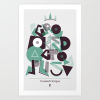Crooked Typography Art Print