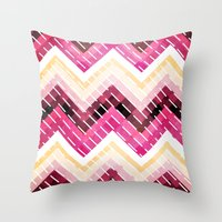 Triangles 2 Throw Pillow