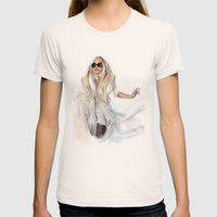 Mother Monster In  NYC Womens Fitted Tee Natural SMALL