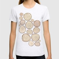 Tree Rings Womens Fitted Tee Ash Grey SMALL