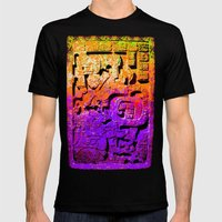 forgotten Purple Mens Fitted Tee Black SMALL