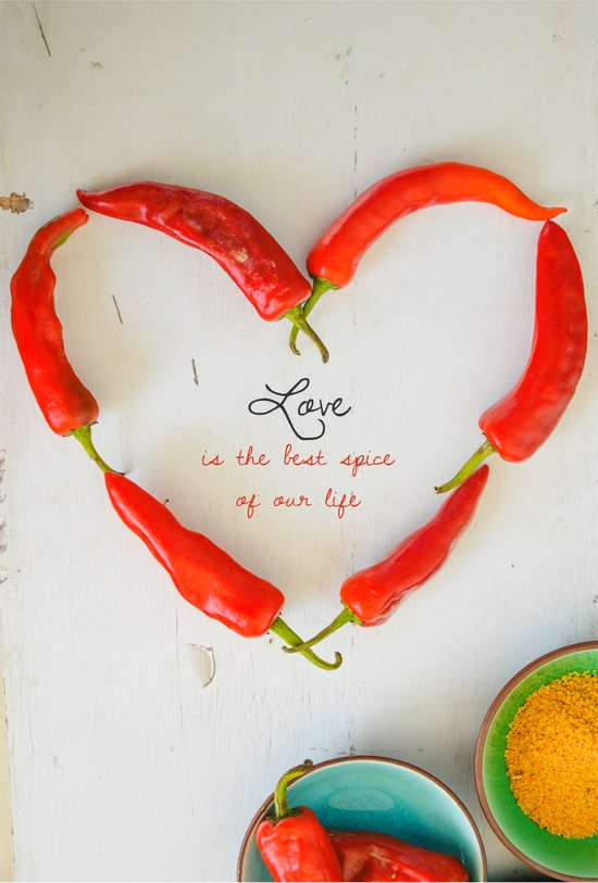 Love is the best spice Art Print