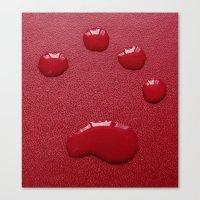 Water Paw-Print Canvas Print