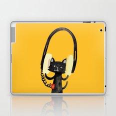 I Love Huge Headphone Laptop & iPad Skin