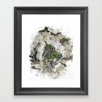 Dragon Of The Mist Framed Art Print