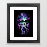 Night With Aurora Framed Art Print