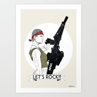 Let's Rock!  Art Print