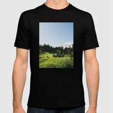 Mt Rainier Shooter Black Mens Fitted Tee SMALL
